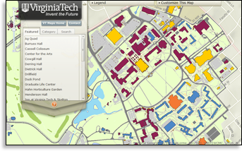 vt interactive campus map Virginia Tech Enterprise Gis Research And Development vt interactive campus map
